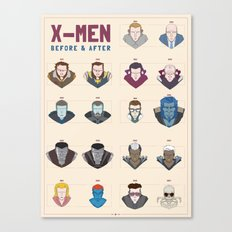 X-MEN BEFORE & AFTER Canvas Print