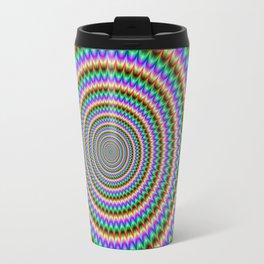 Psychedelic Circles Travel Mug