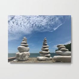 Rock Stack, Photography by Willowcatdesigns Metal Print
