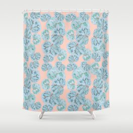 Tropical Sea Grape Leaves Shower Curtain