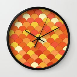 Laranja . Orange Wall Clock