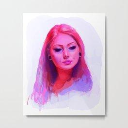Vanity Pink Metal Print