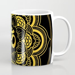 Fire on the Water, Purple and gold Sunset Coffee Mug