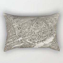 Vintage Map of Port Chester NY (1882) Rectangular Pillow