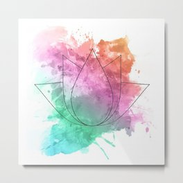 Modern Lotus Metal Print