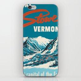 Stowe, Vermont Vintage Ski Poster iPhone Skin