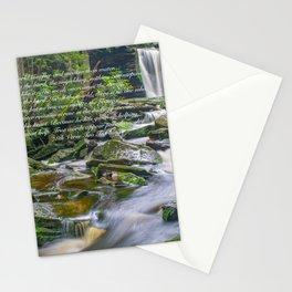 Lao Tsu Verse on Waterfall Stationery Cards