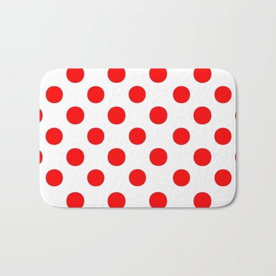 Polka Dots (Red/White) Bath Mat