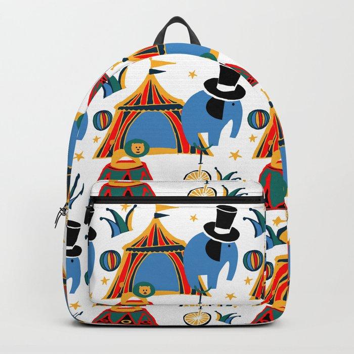 Circus Fun white Backpack