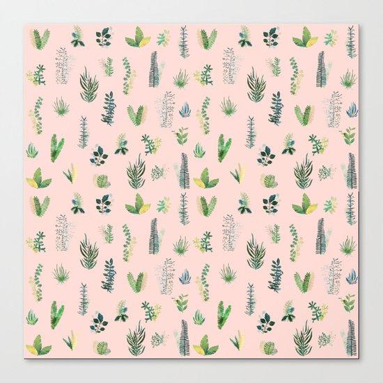 pink pattern flowers Canvas Print