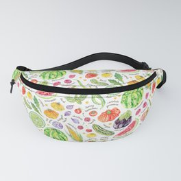 Summer Harvest Pattern Annotated Fanny Pack