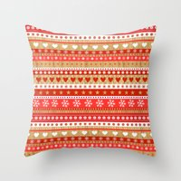 nordic Throw Pillows featuring Nordic Stripe by Faye Maguire Designs