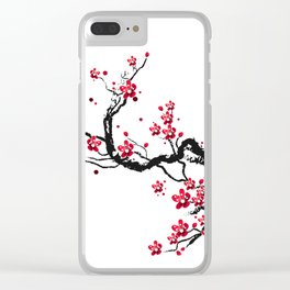 Chery blossoms Clear iPhone Case
