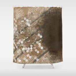 Brown Illusion Shower Curtain