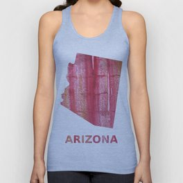 Arizona map outline Indian red stained wash drawing pattern Unisex Tank Top