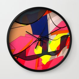 FAUX ABSTRACT SPONGEBOB  Wall Clock