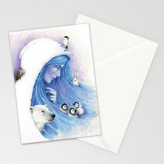 Lady Winter / Dame Hiver Stationery Cards