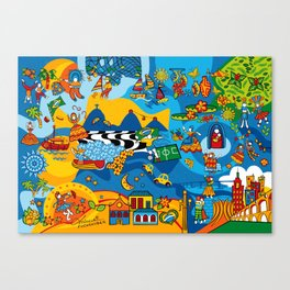 Mix Brazil Canvas Print