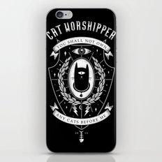 Cat Worshipper iPhone & iPod Skin
