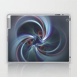 Moons Fractal in Cool Tones Laptop & iPad Skin