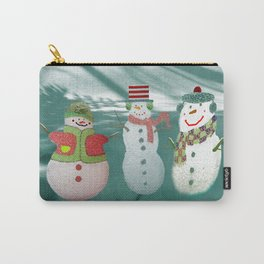 Three Jolly Snowmen Carry-All Pouch
