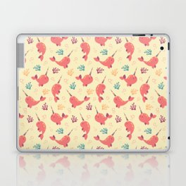 To the Window to the Narwhal - Coral & Cream Laptop & iPad Skin