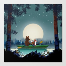 Bear and Fox Canvas Print