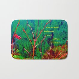 """The Yard #1"" with poem Bath Mat"