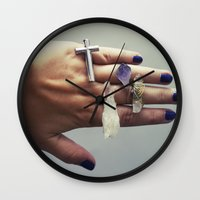 the lord of the rings Wall Clocks featuring Lord of the rings by Hedda Bangsund