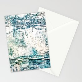 Subtle Blue Textured Acrylic Painting Stationery Cards