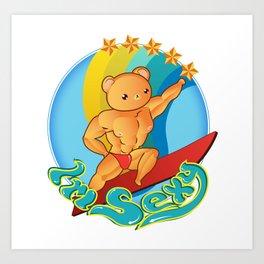 sexy teddy bear Art Print
