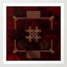 Celtic knote, vintage design Art Print