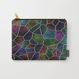 Mosaic LORA,multicolor Carry-All Pouch