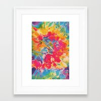 tie dye Framed Art Prints featuring Tie Dye by The Dope Scope
