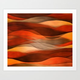 """Sea of sand and caramel waves"" Art Print"