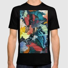 Fallen Black LARGE Mens Fitted Tee