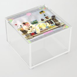 Home Crafts handcut collage Acrylic Box