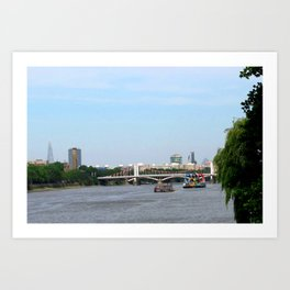 View of the River Thames from the Albert Bridge in London Art Print