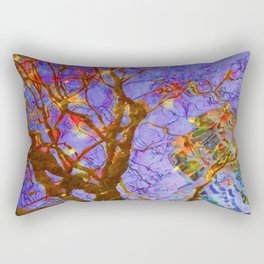 Urban Painting 123 - Purple Rectangular Pillow