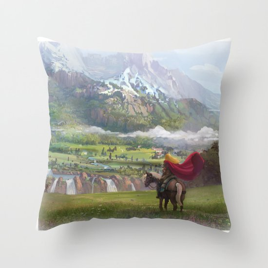 EPic vista  Throw Pillow