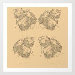 Chignon Art Print