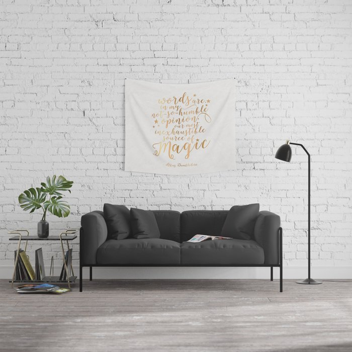 Dumbledore's Magic Words Wall Tapestry