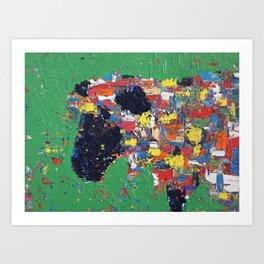 Colorful Ewe Art Print