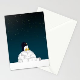 Star gazing - Penguin's dream of flying Stationery Cards