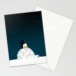 Star gazing - Penguin's dream of flying Stationery Cards