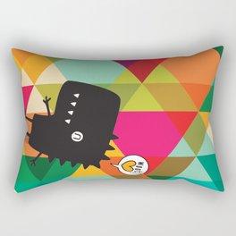 Woot! (Happy Dinosaur) Rectangular Pillow