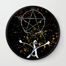A Tarot of Ink 03 of Pentacles Wall Clock