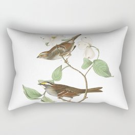 White throated sparrow, Birds of America, Audubon Plate 8 Rectangular Pillow