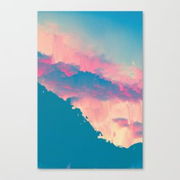 Glitched Landscapes Collection #6 Canvas Print