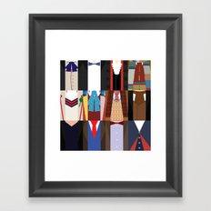 The 12 Doctors Framed Art Print